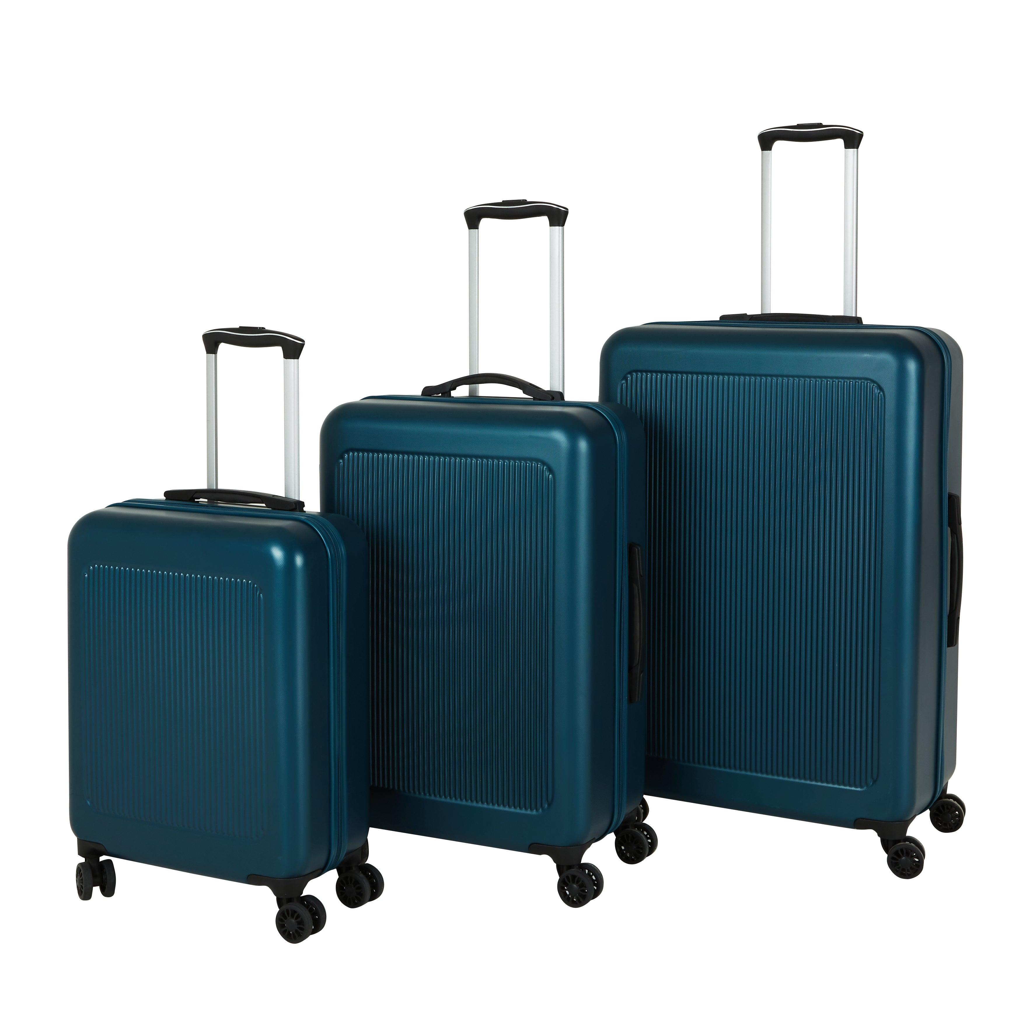 Melbourne Teal Hard Suitcase Blue