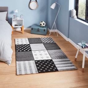 Grey Stars and Stripes Rug