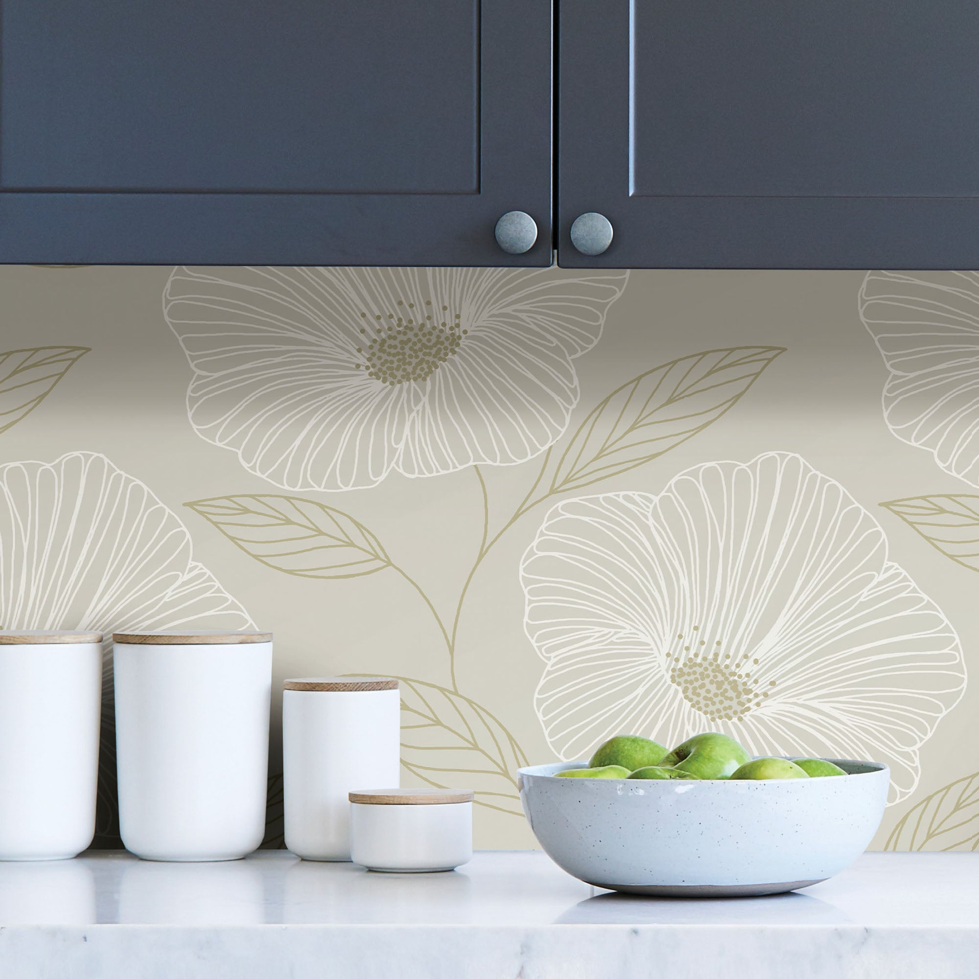 Click to view product details and reviews for Nuwallpaper Gold Floral Self Adhesive Wallpaper White.