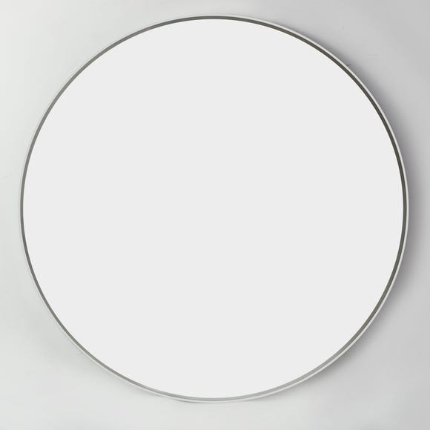 Apartment White Frame Round Mirror 80cm White undefined