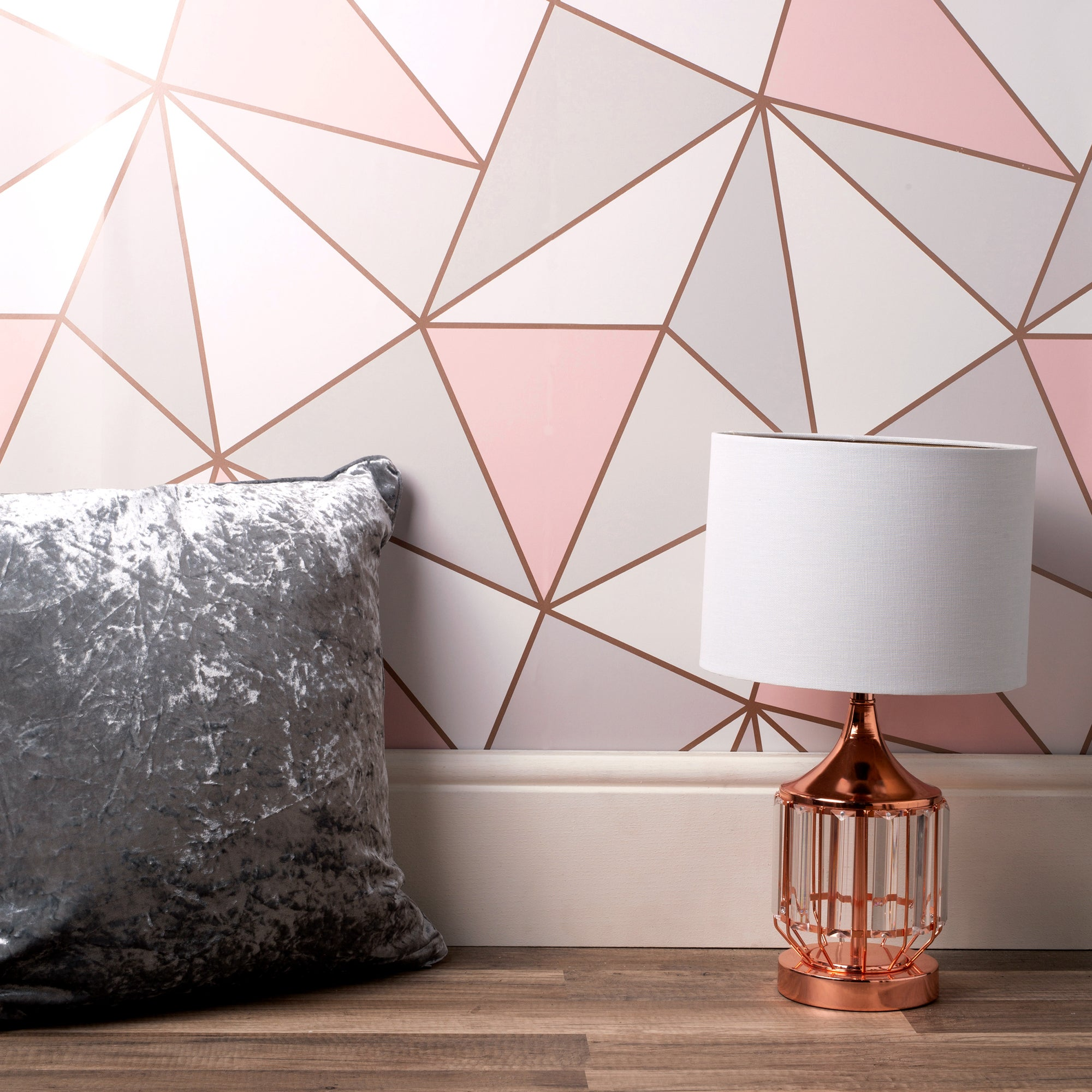 Click to view product details and reviews for Apex Geo Sidewall Wallpaper Rose Gold Rose Gold White And Brown.
