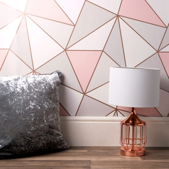 Apex Geo Sidewall Wallpaper Rose Gold Rose Gold
