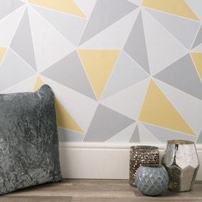 Apex Geo Sidewall Wallpaper Yellow