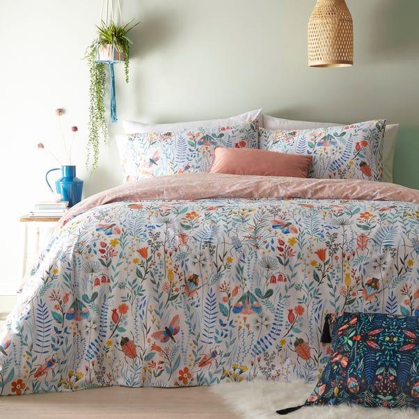 Furn. Mini Nature Reversible Duvet Cover and Pillowcase Set  undefined