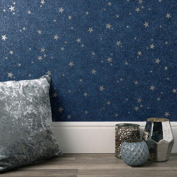 Starlight Navy Wallpaper Navy