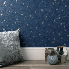 Starlight Navy Wallpaper