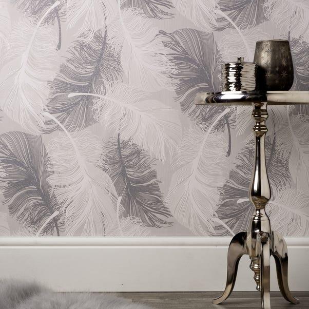 Coloroll Feather Dappled Grey Wallpaper Grey