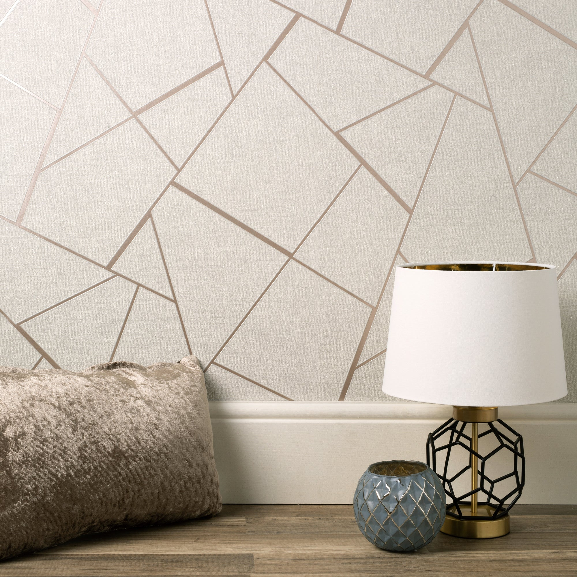 Click to view product details and reviews for Quartz Fractal Rose Gold Wallpaper Rose Gold And Grey.