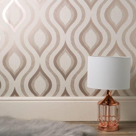 Quartz Geo Rose Gold Wallpaper Rose Gold