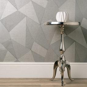 Milano Fractal Mid Grey Wallpaper