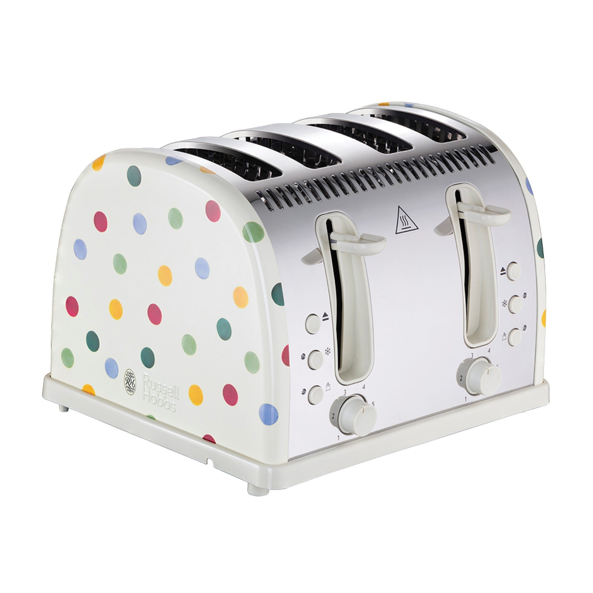 Click to view product details and reviews for Russell Hobbs Emma Bridgewater 4 Slice Polka Dot Toaster White.