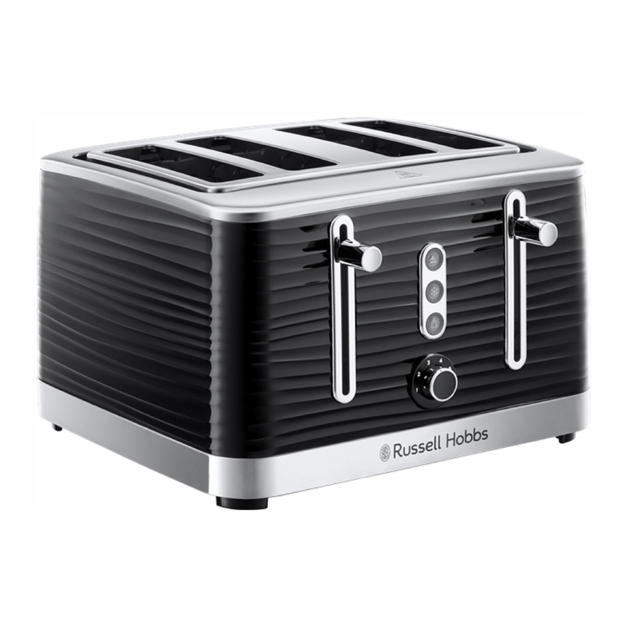 Click to view product details and reviews for Russell Hobbs Inspire 4 Slice Black Toaster Black And Silver.