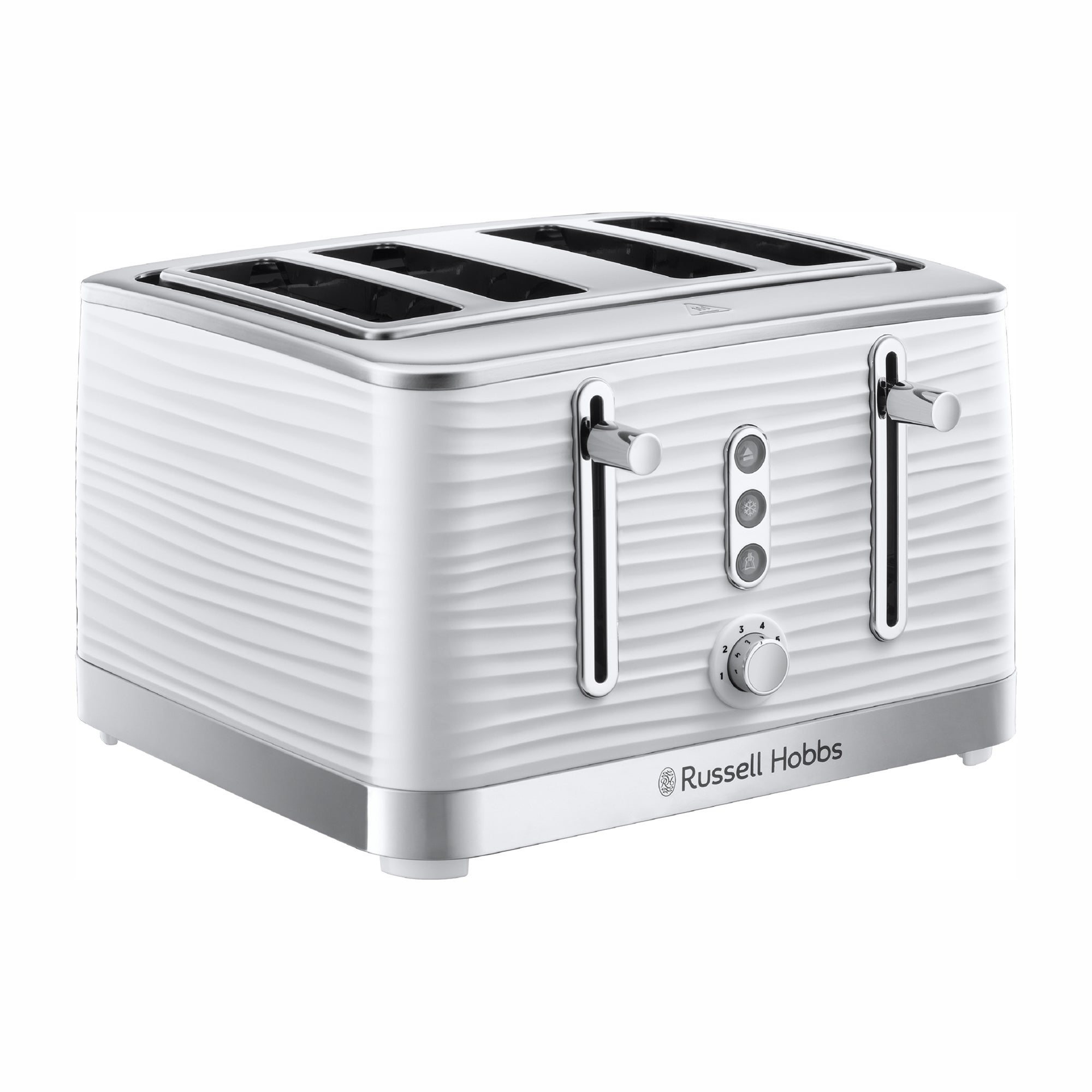 Click to view product details and reviews for Russell Hobbs Inspire 4 Slice White Toaster White.