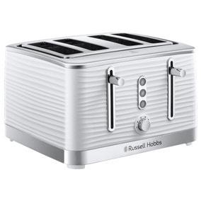 Russell Hobbs Inspire 4 Slice White Toaster
