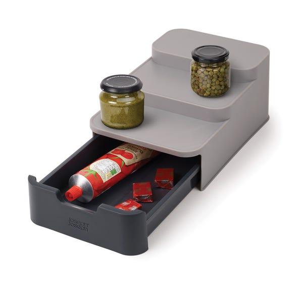 Joseph Joseph Compact Tiered Cupboard Organiser Grey
