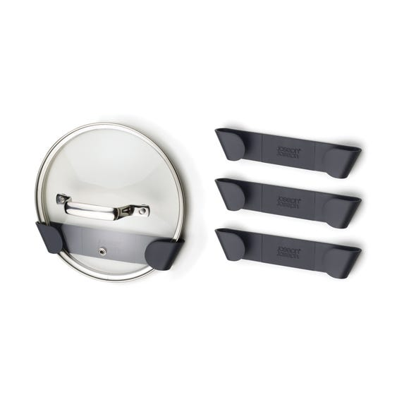 Joseph Joseph Set of 4 Pan Lid Holders Grey