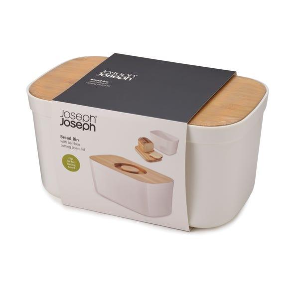 Joseph Joseph White Bread Bin with Cutting Board Lid White