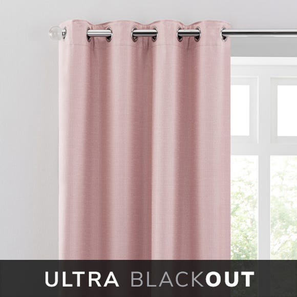 Montreal Thermal Blackout Ultra Blush Eyelet Curtains  undefined