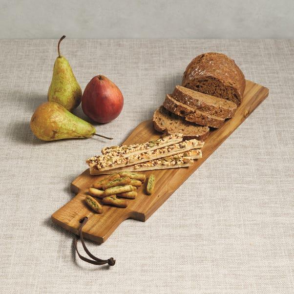 Artesa Acacia Wood Serving Paddle Board Brown