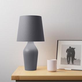 Ava Stoneware Graphite Table Lamp