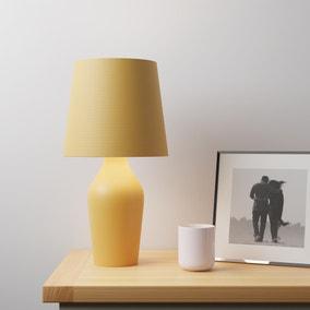 Ava Stoneware Ochre Table Lamp