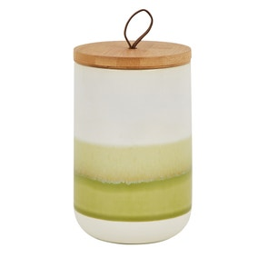 Green Reactive Glaze Kitchen Canister