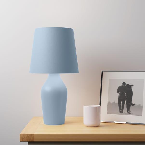 Ava Stoneware Ashley Blue Table Lamp Blue
