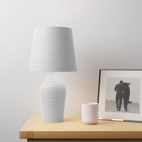 Luna Stoneware Dove Grey Table Lamp