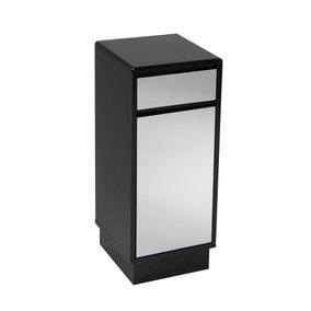 Callen Black Single Door & Drawer Floor Cabinet