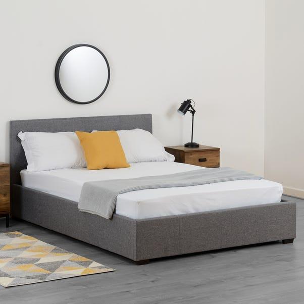 Waverley Grey Linen Ottoman Bed  undefined