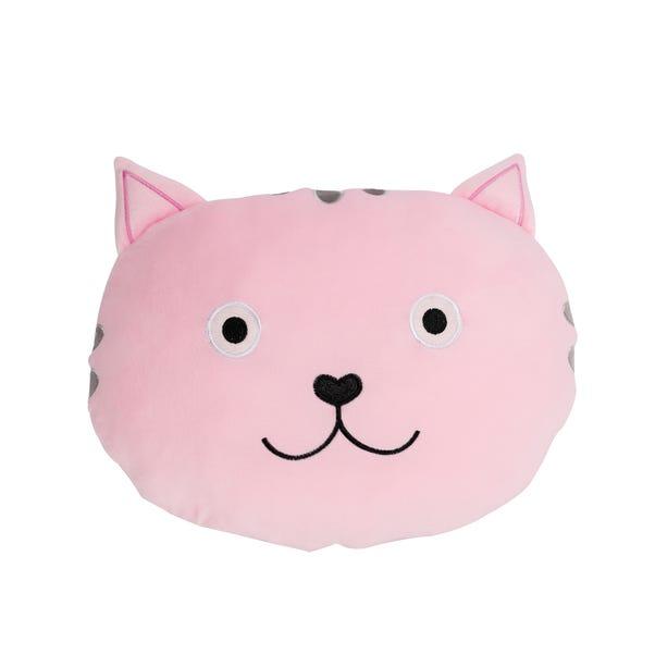 Cat 3D Cushion Pink