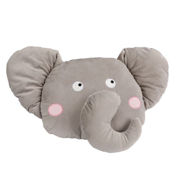 Elephant 3D Cushion Grey