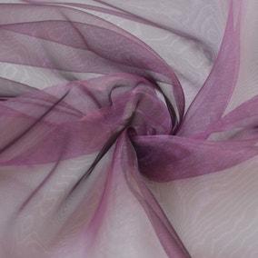 Plum Organza Fabric