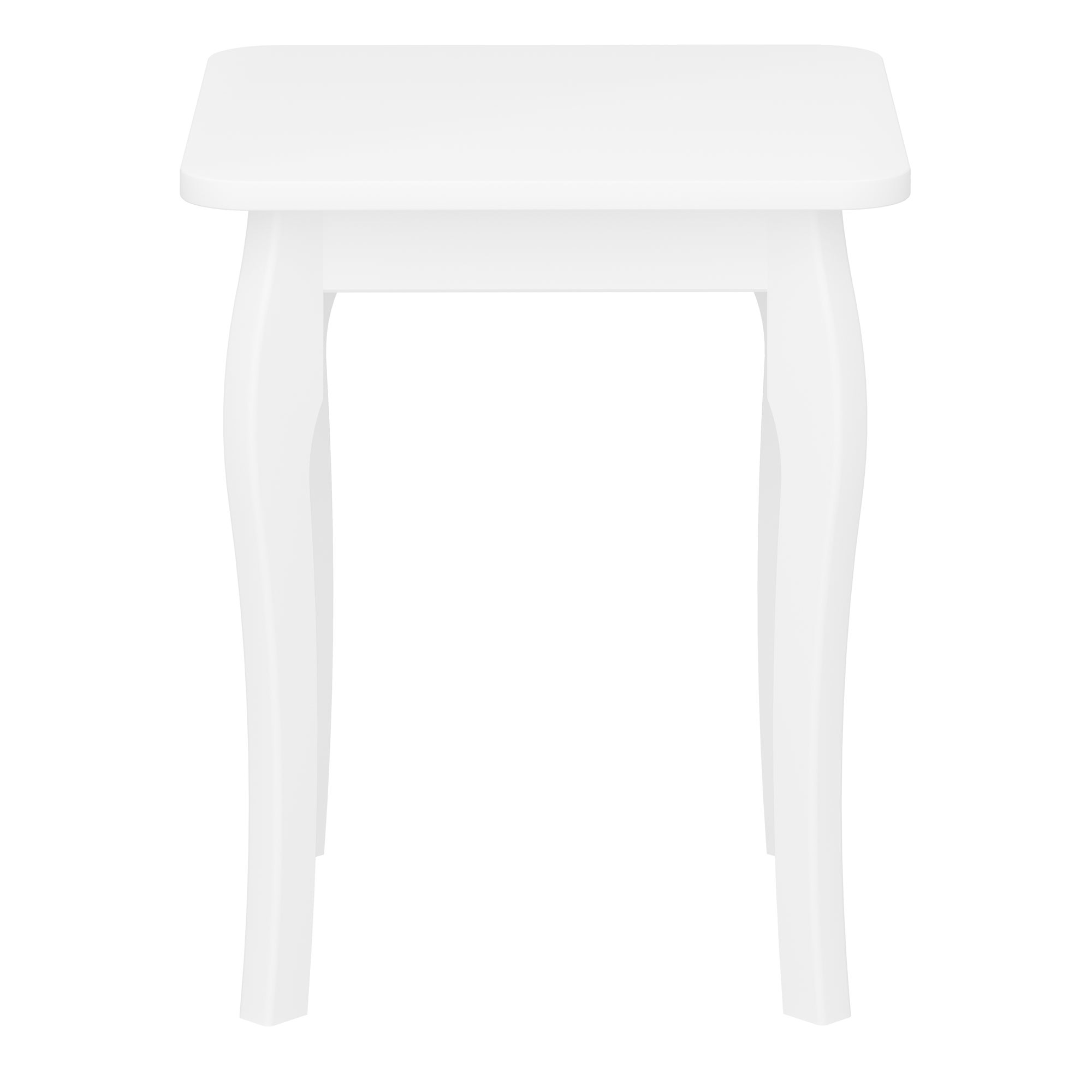 Baroque Dressing Table Stool White