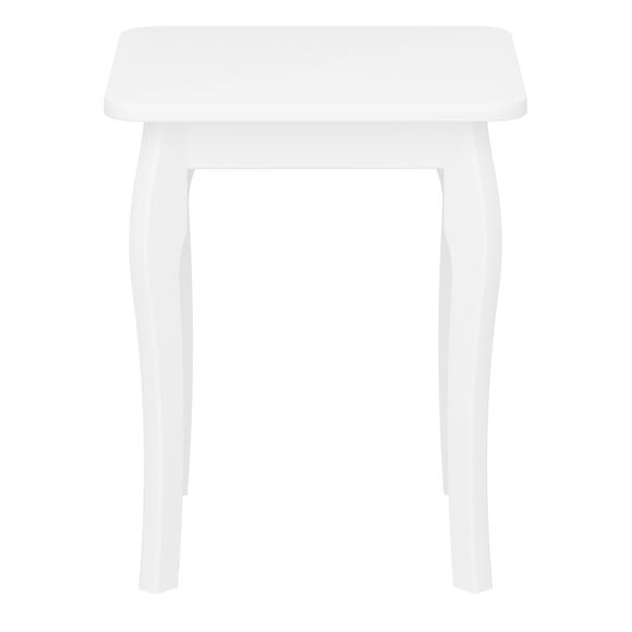 Baroque Dressing Table Stool White
