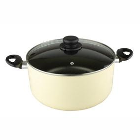 Dunelm Non-Stick 28cm Cream Stockpot