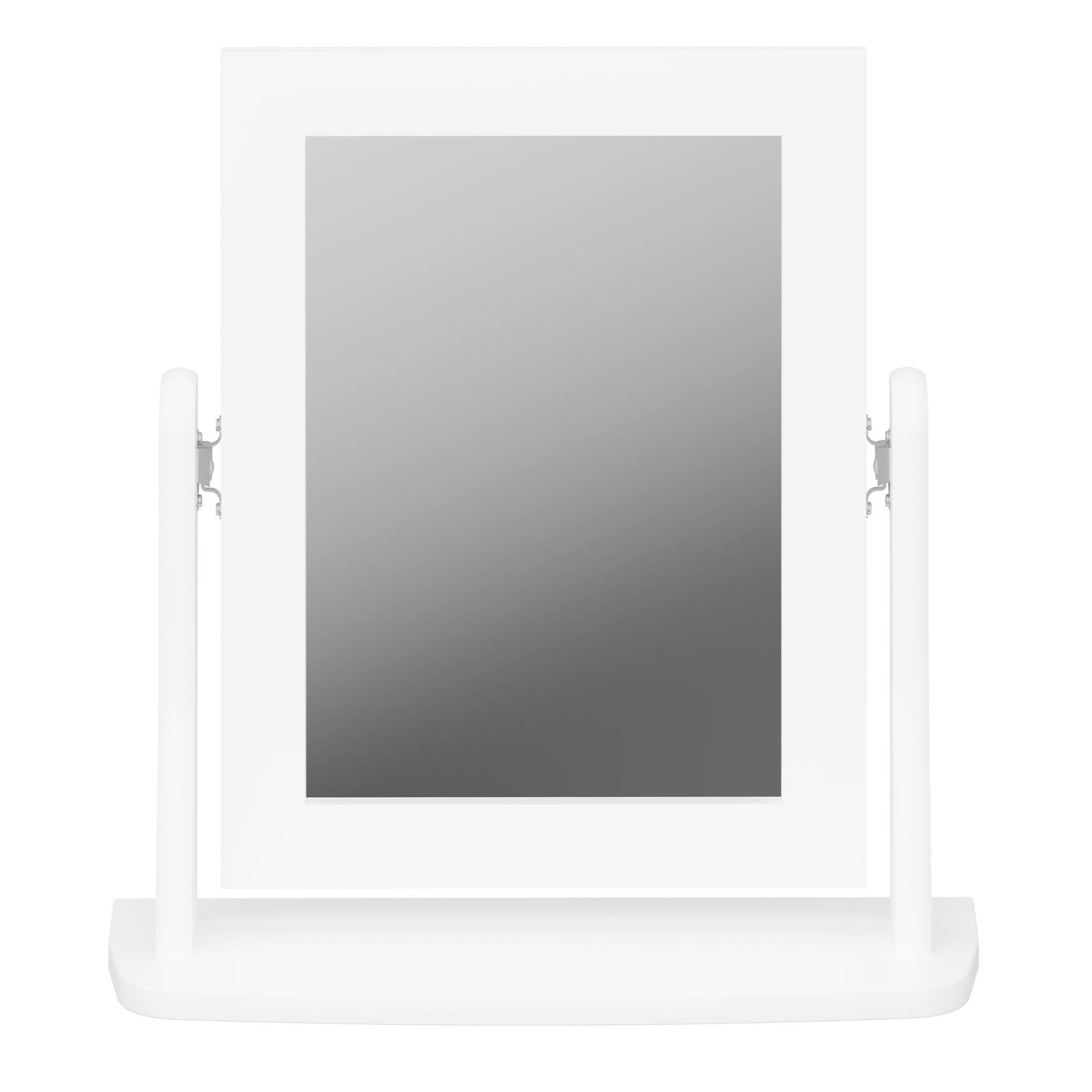 Baroque Dressing Table Mirror White