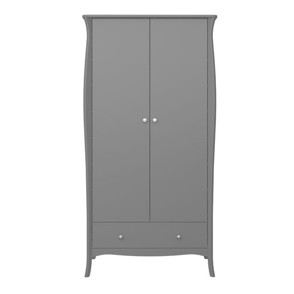 Baroque 2 Door Wardrobe Grey