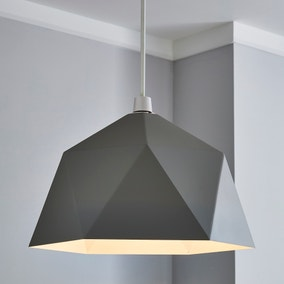 Lily Geometric Easy Fit Pendant Grey