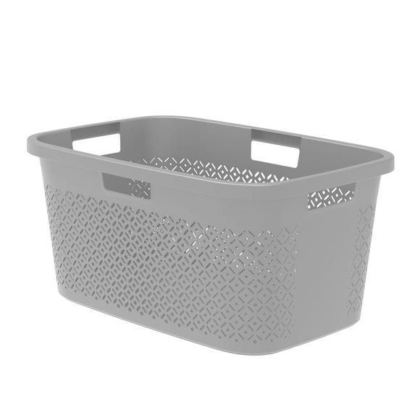 Curver Terrazzo 47 Litre Grey Laundry Hamper Grey