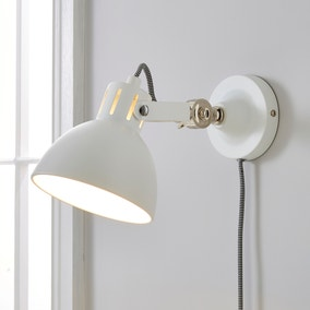 Poppy Easy Fit Wall Light Plug In White