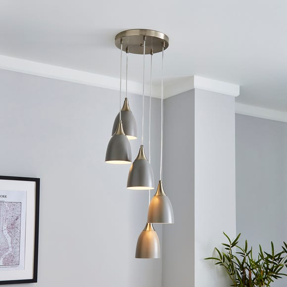 Bea 5 Light Cluster Ceiling Fitting Grey Grey