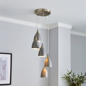 Bea 5 Light Cluster Ceiling Fitting Grey