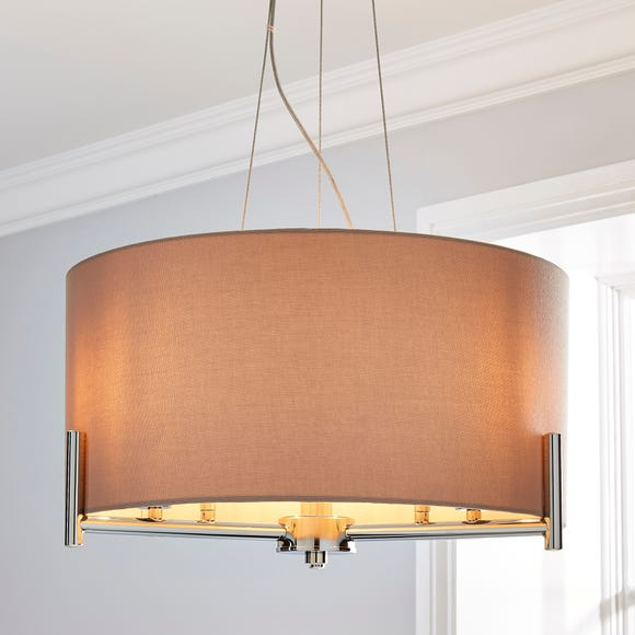 Nora Shade Ceiling Fitting Blush Grey