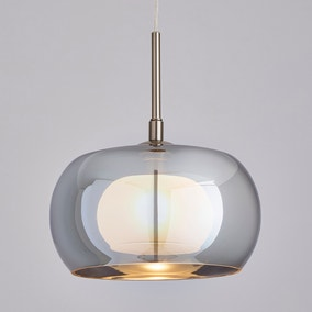Cooper Smoked Glass Pendant Ceiling Fitting