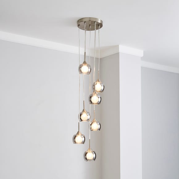 Cooper Smoked Glass Cluster Ceiling Fitting Smoke