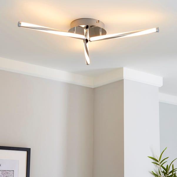 Hettie 3 Light Integrated LED Ceiling Fitting Grey