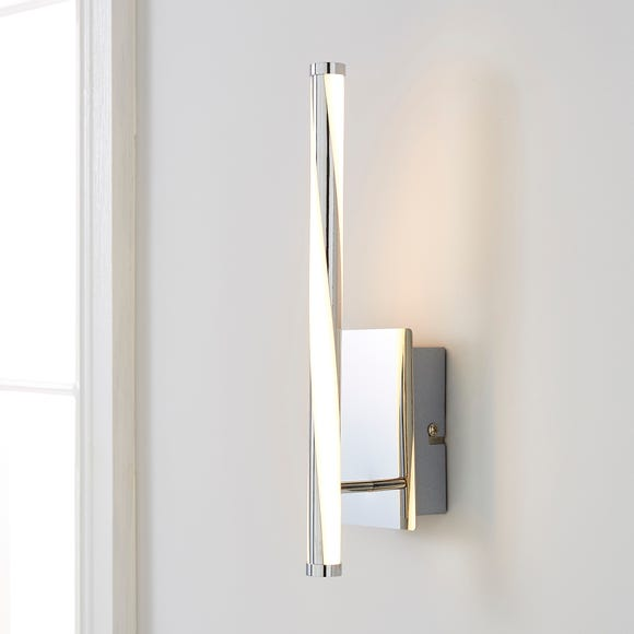 Hettie Integrated LED Wall Light Silver