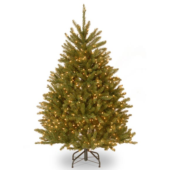 5ft Pre-Lit Dunhill Green Christmas Tree Green