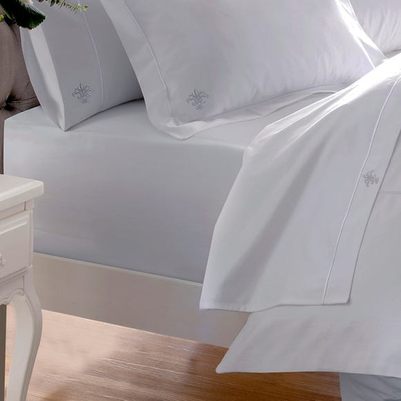 Dorma Egyptian Cotton 1000 Thread Count Fitted Sheet Silver undefined